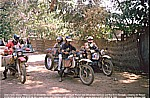 1987/88_CENTRAL AFRICAN REPUBLIC_Bangui_Jochen with BMW meets 2 other crazy german BMW bikers_Alfred and Werner_and the denish girl Iben ... funny days together